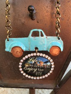 Enjoy the Ride Necklace by MyGoodVibes on Etsy