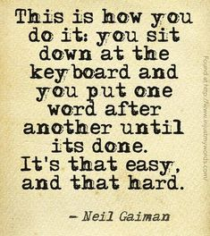 Neil Gaiman. Writing.