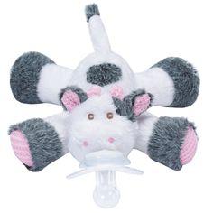 Nookums Paci-Plushies Plush Universal Pacifier Holder Cutsie Cow
