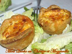 Mini quiche au chorizo et mozzarella - Dans vos assiettes