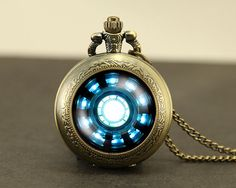 Iron Man Pocket Watch Locket necklace jewelry Iron by touchtime, $9.99 ((Add to list of things to make!!)
