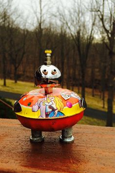 A personal favorite from my Etsy shop https://www.etsy.com/listing/285982553/robot-sculpture-robot-metal-sculpture