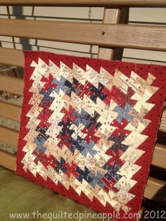THE QUILTED PINEAPPLE: Old Glory Itty Bitty Pinwheel Quilt