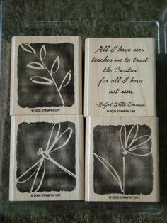 All I Have Seen Stampin Up (Set of 4) $12.99