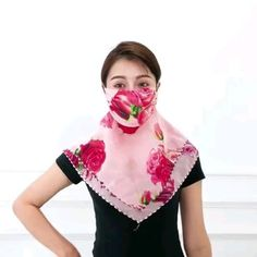 Reusable and washable convertible facemask scarf. Versatile lightweight design perfect for all year round weather. Easy Face Masks, Diy Face Mask, Chiffon Scarf, Floral Chiffon, Unique Faces, Diy Scarf, Fashion Face Mask, Diy Mask, Tapas