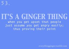 sounds about right....I effing haaaaate the term ginger!  rawr.