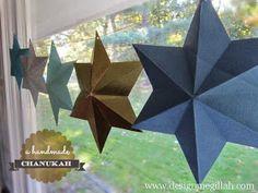 Design Megillah: Paper Stars for Chanukah