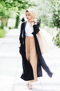 black and dark-colored Headscarf outfits - Fashion 2D Muslim Fashion d4d1895643