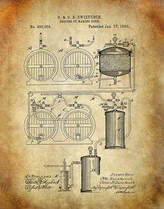 Tanto de los tópicos de relevancia histórica, grabados de patentes son una excelente manera de mostrar su vocación y otras áreas de interés y al mismo tiempo mejoran visualmente cualquier espacio. Hacen excelentes regalos. Se trata de una patente expedida a Henry Ennever en 1934.