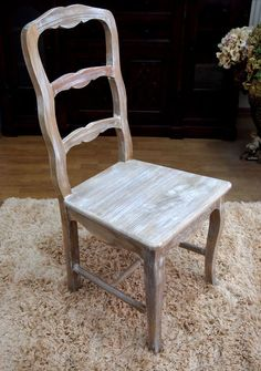 Krzesło w angielskim stylu Cottage / Chair in Cottage Collection Rustic Style Rustic Style, Dining Chairs, Cottage, Furniture, Collection, Home Decor, Rugged Men's Fashion, Decoration Home, Room Decor