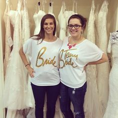 We had so much fun with these beautiful girls today! We especially love their fun shirts! #columbusbride #bride2be #elegantbride