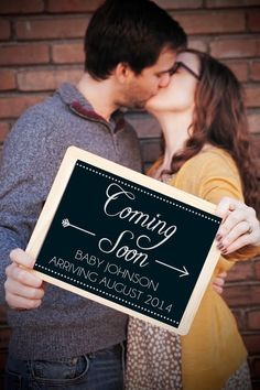 Pregnancy Announcement Printable Poster 11x14 | $10 on Etsy