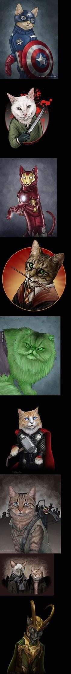 Super-Cats by Jenny Parks