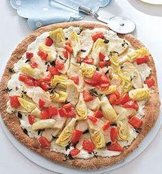 Artichoke, Goat Cheese and Chicken Pizza: Recipes: Self.com