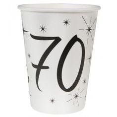 Gobelet carton anniversaire 70 ans les 10