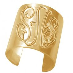 Personalized Monogrammed Ring (Order Any Initials) - 24K Gold Overlay $65
