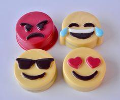 Emoji Oreo Chocolate Covered Oreo Set (4), Emoji Candy, Emoji Birthday, Emoji Party, Emoji Theme, Emojis, Emoji Favor, Emoji candy by ChocolatesUnlimited on Etsy Boy Party Favors, Baby Shower Favors Girl, Chocolates, Chocolate Dipped Oreos, Elegant Cookies, Boy Birthday Parties, Birthday Emoji, Baby Boy, Delicious Chocolate