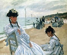 Claude Monet On The Beach At Trouville oil painting reproductions for sale