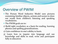 Picture Word Inductive Model (PWIM)