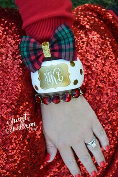Monogrammed Bangle Golden Dream Bracelet by SweetSouthernThing