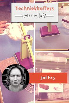 Techniekkoffers voor kleuters van juf Evy - zwaar en licht - Juf Bianca