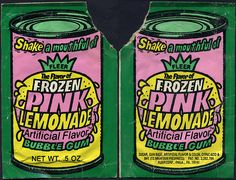 Fleer - Frozen Pink Lemonade flavor bubble gum - shake pouch pack - 1970's by JasonLiebig, via Flickr