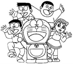 Image result for drawing of doraemon   Easy cartoon ...