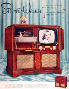 1951 Stewart Warner Television Console