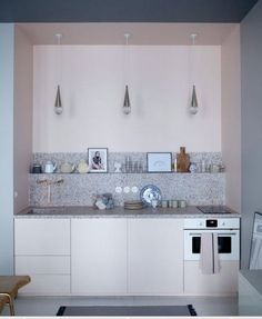 Terrazzo Flooring and Tiles For The Home. Check The Guide & Shop Our Exclusive Terrazzo Vinyl Flooring, Splashbacks & Feature Tiles. Paris Kitchen, Home, Kitchen Remodel, Interior, Pastel Interior, Kitchen Design, Kitchen Countertops, Terrazzo, Kitchen Interior