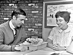 Fred Rogers and Judy Rubin (as the Art Lady) interact in an early episode of Mister Rogers' Neighborhood. Rubin makes which opens at BIG ARTS on Daniel Tiger's Neighborhood, Fred Rogers, Good People, Amazing People, Art Therapy, Documentaries, The Neighbourhood, Teaching, Films