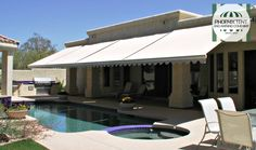 Control sunlight exposure with a remote! Try our retractable #awnings! #PhoenixTent #moderntechnology #cooltech