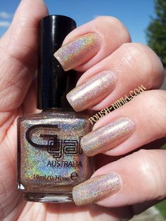 Glitter Gal Nude 3D | Swatched by Polish Ninja