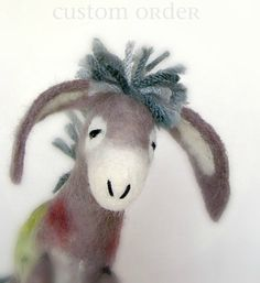 Grey Hudson  Donkey  with long floppy ears and by TwoSadDonkeys, $1.00