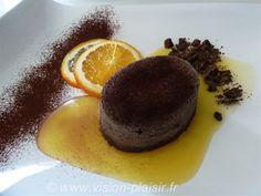 Fondant chocolat et sa sauce à l'orange