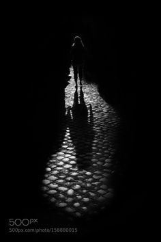 Solitary Woman by MarioVani Street Photography #InfluentialLime