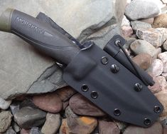 Mora Companion with a Kydex sheath (with a firesteel attachment).