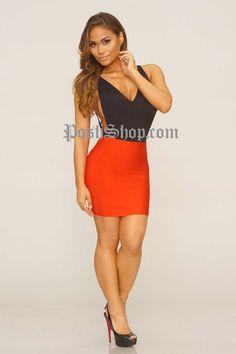 WC Short Bandage Skirt - Red