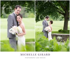 June Wedding at the Country Club of Pittsfield in Massachusetts :: Berkshire Wedding :: Portrait of the bride and groom :: Michelle Girard Photography and Design