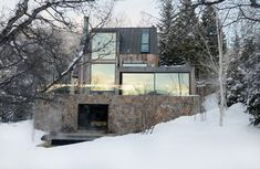 La Muna, a home built in the enclave of Red Mountain in Aspen Colorado. Oppenheim Architects