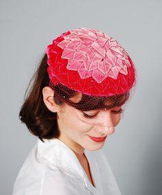 Vintage Schiaparelli Hat - 1950s Hat - The Dahlia