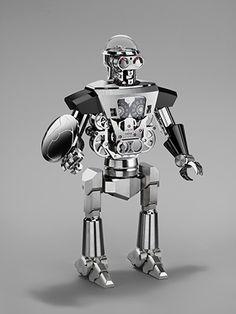 Швейцарская фирма собрала часы-робота из 618 деталей: MB&F