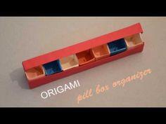 Origami I Pill box organizer I How to make a pill box organizer - YouTube