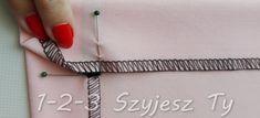 Podwijanie rogu spódnicy na raz – 1-2-3 Szyjesz Ty Tie Clip, Wallet, Purses, Tie Pin, Diy Wallet, Purse