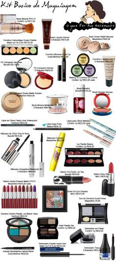 Roupas e Outras Drogas: Kit básico de maquiagem : Roupas e Outras Drogas: Kit básico de maquiagem Best Makeup Tips, Best Makeup Products, Makeup Hacks, Diy Makeup Vanity, Eye Makeup, Makeup Organization Ikea, Party Make-up, Blue Lipstick, Makeup Eyes