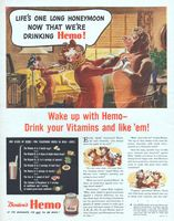 Borden's Hemo Drink Mix 1944 Ad Picture