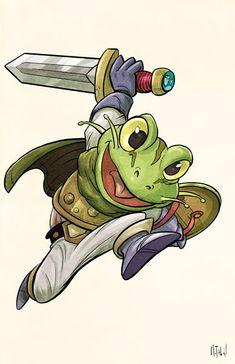Chrono Trigger Frog by matthewart.deviantart.com on @DeviantArt