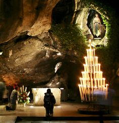 Lourdes, France - Our Lady of Lourdes grotto