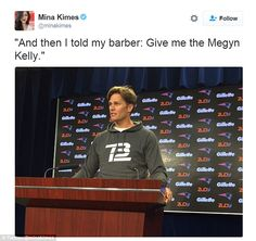 Tom Brady was ridiculed online after he sported a new haircut during a press…