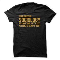 Majored in Sociology T Shirt, Hoodie, Sweatshirts - hoodie women #shirt #fashion