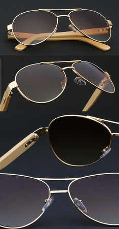7f16a6161e456 Classic Wood Aviator Shades - Retro pilot style with aesthetic look for men  Wooden Sunglasses